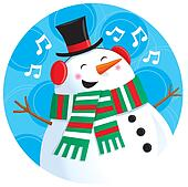 Singing Snowman in top Hat