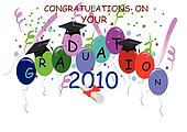 2010 graduation background