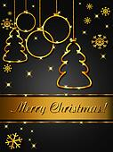 Christmas greeting card, elegant