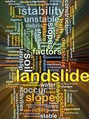Landslide background concept glowing