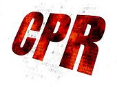 Health concept: CPR on Digital background