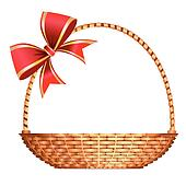 Vector gift basket