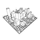 Cityscape Model 3D - Sketch