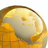 Amber Globe Earth