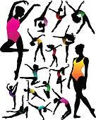 girl ballet silhouettes