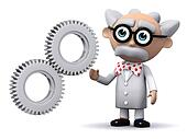 3d Scientist cogs