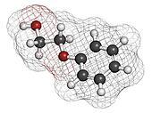 Phenoxyethanol preservative molecule. Used in cosmetics, vaccine