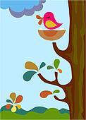 singing bird on a tree