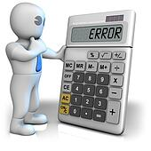 Calculator shows error