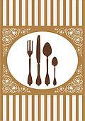 Menu of restaurant card, vector