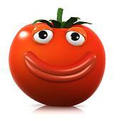 3d Big smile tomato