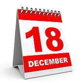 Calendar. 18 December.