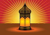 intricate islamic floor lamp