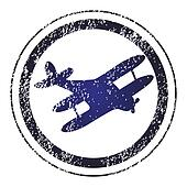 Stamp with airplane