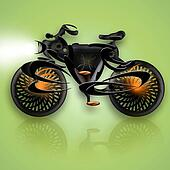 Bike Black Flame
