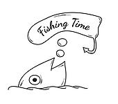 Gone fishing clip art royalty free gograph for What is the best time to go fishing