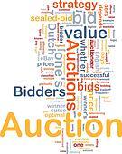 Auction background concept