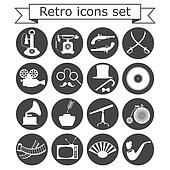 Retro icons set