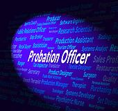 Probation Officer Shows Probational Hire And Career