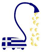 Greek vacuum cleaner with european euros