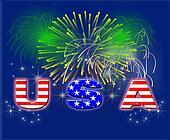 Patriotic Fireworks USA