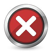 cancel red icon x sign