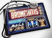 Bronchitis on the Display of Medical Tablet.