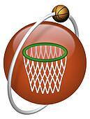 basket basketball hoop ball net