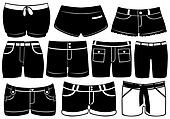 Set Of Different Shorts