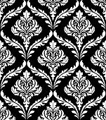 Seamless arabesque design in black and white