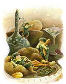 Elf fairytale holiday party turkey dinner
