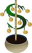 Watch Your Money Grow Vector