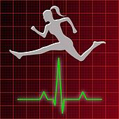 Woman Jumping Over Heart Rate