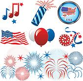 July 4th Icons