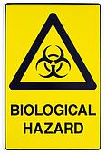 Biological hazard warning sign
