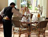 waiter at work