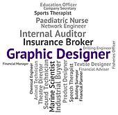 Graphic Designer Represents Words Jobs And Designing