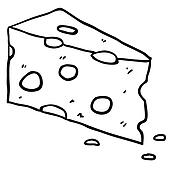 Swiss Cheese Cartoon - Royalty Free - GoGraph