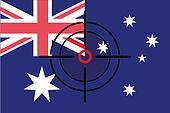Sniper Scope on the flag of Australia