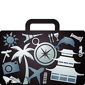 X-rayed tourist suitcase
