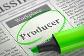 Job Opening Producer.