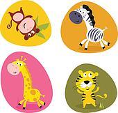 Illustration set of cute animals