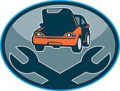 Automobile car breakdown mechanical repair  with spanner