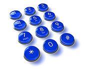 Blue phone keyboard