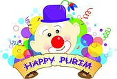 Purim Clown Banner