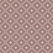 White and Maroon Fleur-De-Lis Pattern Textured Fabric Background