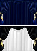 Theater curtain in two versions