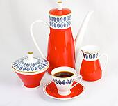 isolated coffee set
