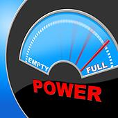 Full Power Means Electric Measure And Powered