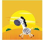 Africa animals: Cute cartoon africa